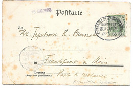 Germany - Bahnpost - Ambulant - Ascherleben-Wittenberg 12.7.1908 ZUG 679 - Covers & Documents