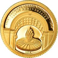 Monnaie, Gabon, Première Guerre Mondiale, 1000 Francs, 2014, FDC, Or - Gabon