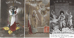 WW1 - 1914-18 - Militaria - PATRIOTIQUES - PATRIOTIQUE - 3 CPA BON ETAT - Patriotic