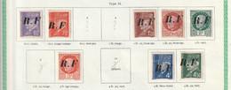 France Libération Pons Avec Charniéres* Type II Série 1 A 12 Sauf 3 Et 4 Et12 Et 8 Tous Signé Brun Dont 2 Recto Verso - Liberation