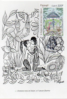 26 VALENCE - PEYNET Le Kiosque Des Amoureux - Timbre 1er Jour 04.11.2000. Colombe Et Signature Au Verso - Valence