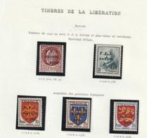 France Libération Chambéry 1 A 5 + 14 Tous Avec Charniére - Liberazione