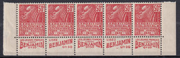 Publicité - YT 272b Fachi 50c Type II - Bande De 5 Benjamin Texte Complet BdF (Maury : BP 164a) Neuf** - Werbung