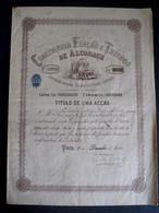 PORTUGAL - COMPANHIA FIAÇÃO E TECIDOS DE ALCOBAÇA - TITULO DE UMA AÇÃO 1946 - SHARE PORTUGUESE TEXTILE COMPANY - Textil
