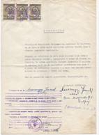 1960.YUGOSLAVIA,SERBIA,BELGRADE,POWER OF ATTORNEY,3 COURT,LEGAL REVENUE STAMPS - Unclassified