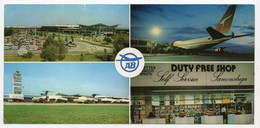 1960s YUGOSLAVIA,SERBIA,BELGRADE AIRPORT,DUTY FREE SHOP,JAT,ILLUSTRATED POSTCARD,MINT - Jugoslavia