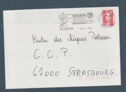 Flamme Dpt 67 : WOERTH (SCOTEM N°  9964 émise Le 03/04/1989) : Musée 1870 - Monuments Historiques... - Oblitérations Mécaniques (flammes)