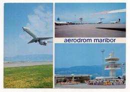 1970 YUGOSLAVIA,SLOVENIA,MARIBOR AIRPORT,ILLUSTRATED POSTCARD,MIN - Slovenia