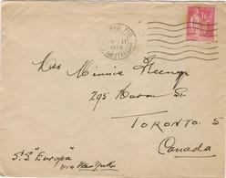RARE- 1f PAIX TARIF PARTICULIER LETTRE POUR LE CANADA 18/02/38 - 1921-1960: Moderne