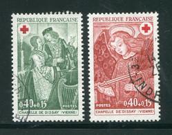 FRANCE-Y&T N°1661 Et 1662- Oblitérés (croix Rouge) - Used Stamps
