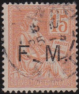 France    .  Y&T    .   Fm 1        .   O     .    Oblitéré - Franchise Stamps