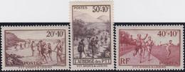 France    .  Y&T    .  345/347      .   *      .   Neuf Avec Gomme Et Avec Charnière  .  /  .   Mint-hinged - Unused Stamps