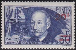 France    .  Y&T    .  493     .   *      .   Neuf Avec Gomme Et Avec Charnière  .  /  .   Mint-hinged - Unused Stamps