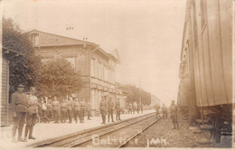 CPA Estonia -  PALDISKI / BALTISKI, Jaam, Gare, Railway Station,  Carte Photo. - Estonia