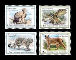 Tajikistan 2020 Mih. 995/98 Fauna. Red Book Of Tajikistan. Birds Of Prey And Wild Cats (I) MNH ** - Tajikistan