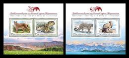 Tajikistan 2020 Mih. 999/1002 (Bl.106/107) Fauna. Red Book Of Tajikistan. Birds Of Prey And Wild Cats (II) MNH ** - Tajikistan