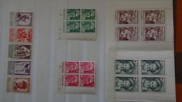 N166 Belle Collection De Timbres, Carnets Croix Rouge, Coins Datés ** De France. Côte Sympa ... A Saisir  !! - Verzamelingen (in Albums)