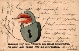 78715- Jux Humor Kannnst Auf Einen Klatsch Du Nicht Verzichten 1901 - Humor