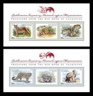 Tajikistan 2020 Mih. 1003/06 (Bl.108/09) Fauna. Red Book Of Tajikistan. Birds Of Prey And Wild Cats (III) MNH ** - Tajikistan