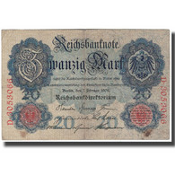 Billet, Allemagne, 20 Mark, 1908, KM:31, TB+ - 20 Mark