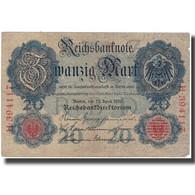 Billet, Allemagne, 20 Mark, 1910, KM:40a, TB+ - 20 Mark