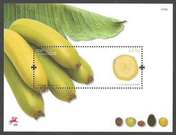 Portugal - Tropical And Subtropical Fruits From Madeira (Banana), Souvenir Sheet, MINT, 2009 - Obst & Früchte