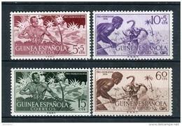 Guinea Española 1954. Edifil 334-37 ** MNH. - Guinée Espagnole