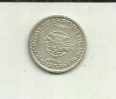 S-3 Escudos 1958 Timor Silver - Timor