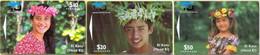 COOKISLAND : D3/5SET $10,$20,$50  Set Head Ei Katu MINT - Islas Cook