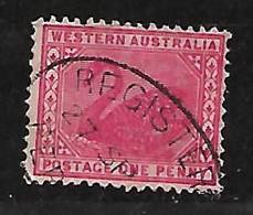 WESTERN AUSTRALIA 1912 SWAN CARMINE FINE USED - Ohne Zuordnung