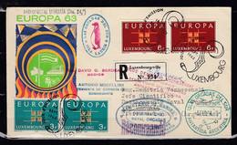 Recommande Brief Van Luxembourg Via Ushuaia Las Orcadas Del Sud Isla Laurie Islas Orcadas Del Sur Antartida Argentina - Covers & Documents