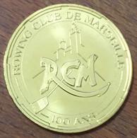 13 MARSEILLE AVIRONS ROWING CLUB 100 ANS MDP 2014 MÉDAILLE MONNAIE DE PARIS JETON TOURISTIQUE MEDALS TOKENS COINS - 2014
