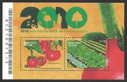 Brazil - 2010 - Year Of Biodiversity, Souvenir Sheet, MINT, 2010 - Gemüse