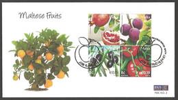 Malta - Maltese Fruits, 3rd FDC - Set 4 FDCs, 2007 - Gemüse