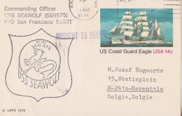 SSN 575 - SS 197 - USS Seawolf - MISSENT TO BELIZE - 1981-00
