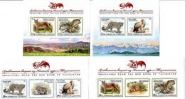 Tajikistan 2020. Red Book. Birds Of Prey & Wild Cats. 4  S/S - Tadzjikistan