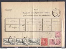 Bestuur Der Posterijen Port Betaald Door Bestemmeling Met Stempel St Niklaas Met Zegel PA11A Cote 125 Euro Op Brief - Airmail