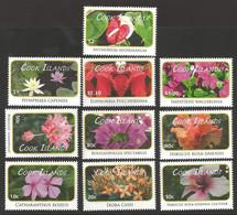 Cook Islands - Flower Definitive Resized Smaller, Set Of 10 Stamps, MINT, 2010 - Sonstige