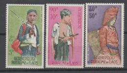 Laos, Poste Aérienne N°43 à 45**, Costumes Traditionnels - Laos