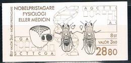 SUEDE 1989 - PRIX NOBEL DE MEDECINE ET PHYSIOLOGIE - CARNET De 8 Timbres,  Neufs (**) / MNH - Yvert N°C1560 - Medicine