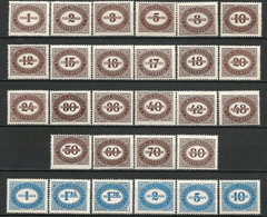 AUSTRIA - 1947 - CIFRA SU FONDO BIANCO IN UN OVALE - SERIE COMPLETA - MNH - Portomarken