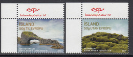 2015 Iceland Tourism Sites Complete Set Of 2 MNH - Unused Stamps