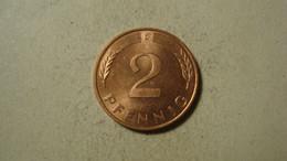 MONNAIE ALLEMAGNE 2 PFENNIG 1991 D - 2 Pfennig