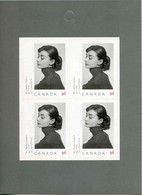 """FEUILLET** De 2008 Du CANADA De 4 Timbres Adhésifs """"Portraits D'AUDRAY HEPBURN (1956) Par Le Photographe YOUSUF KARSH"""" - Blokken & Velletjes"""