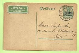 Entier Stempel IXELLES , Avec Vignette Librairie F.DE NOBELE / BRUXELLES (3040) - [OC1/25] General Gov.