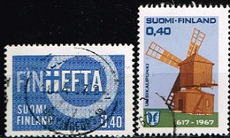 FINLANDE/Oblitérés/Used/1967 - YVERT N° 589,592 / MICHEL N° 619/620 - Gebraucht