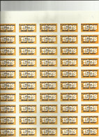 Timbres Halieutiques Réciprocitaires E H G O 1998 (pas Fiscaux )- Pêcheur D'un Département Adhérant - Feuille 50 Timbres - Revenue Stamps