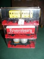 3 WAGONS JOUEF EN HO  EN BOITE : KRONENBOURG , ALGECO , BAILLY - Antikspielzeug