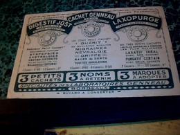 Vieux Papier Buvard D'occasion Médicament, DigestifJOst, Cachet Genneau ,Laboratoire Genneau Bordeaux - M