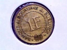 Burundi 1 Franc 1965 KM 6 - Burundi